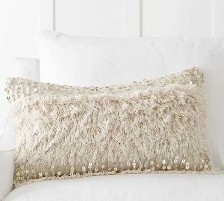 """Mandira Moroccan Pillow Cover-16""""x26""""-Beige-Insert sold separately - Pottery Barn"""