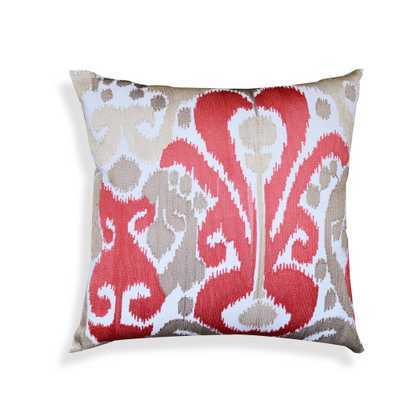 Crewel Embroidery Coral Ikat - Domino