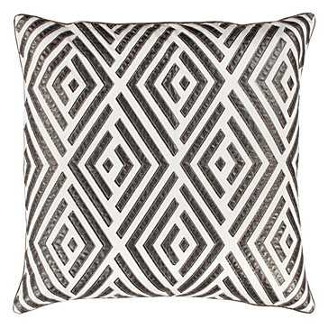 "Maestro Silver 24"" Pillow  - Feather/Down insert - Z Gallerie"