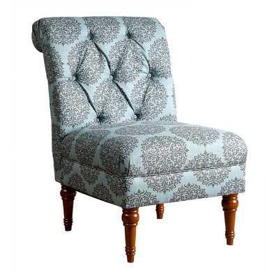 Sienna Floral Tufted Slipper Side Chair - Wayfair