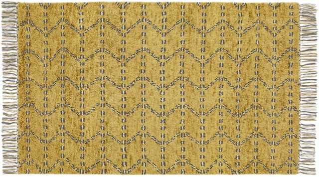 kelso hand knotted shag rug - CB2