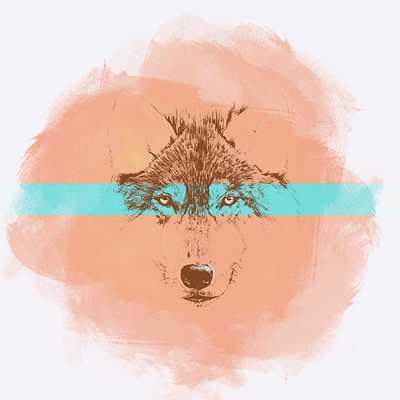Blue Eyed Wolf - redbubble.com