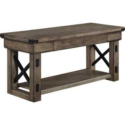 Altra Wildwood Wood Veneer Entryway Bench - Overstock