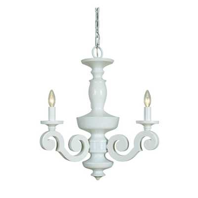 Jeremiah by Craftmade Atelier Gloss White Three-Light Chandelier - Bellacor