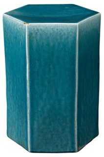 Small Porto Side Table, Blue - One Kings Lane