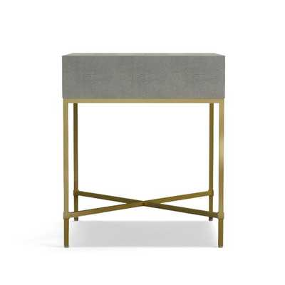 Faux Shagreen Side Table - Williams Sonoma