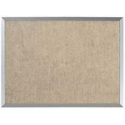 "Burlap Weave Wall Mounted Bulletin Board - 1' 6"" H x 2' - Wayfair"