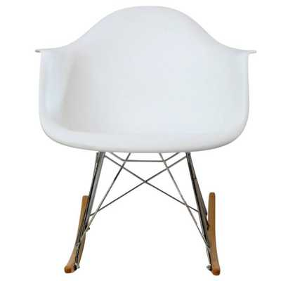 Rocker Lounge Chair in White - Domino