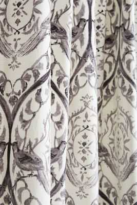 "Tiled Crest Curtain - 108"" x 50"" - Grey - Anthropologie"