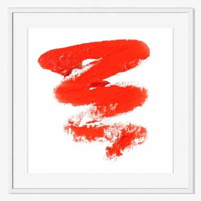 """Offset for west elm Print - Orange Lipstick by The Licensing Project- Small - 9""""sq.- Framed - West Elm"""
