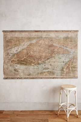 Relic City Map, NYC - Anthropologie