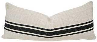 European Herringbone & Linen Body Pillow - One Kings Lane