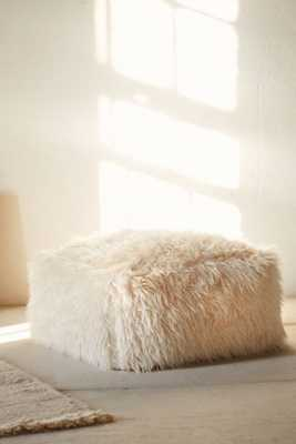 Faux Fur Pouf - Urban Outfitters
