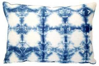 Indigo Shibori Pillow - One Kings Lane