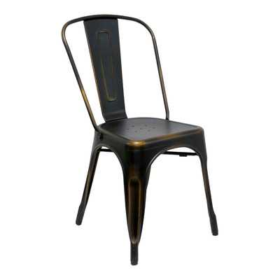 Industrial Classics Garvin Side Chair - Antique Copper - Wayfair