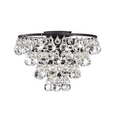 Tranquil Crystal and Bubble Flush-mount Chandelier - Overstock