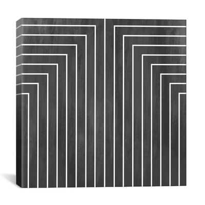 "Modern Art Mid Century Geometric Graphic Art on Canvas-37""x37"" - Wayfair"