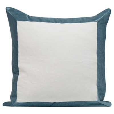 WINDOWPANE DECORATIVE PILLOW RIALTO VELVET-22-no insert - HD Buttercup