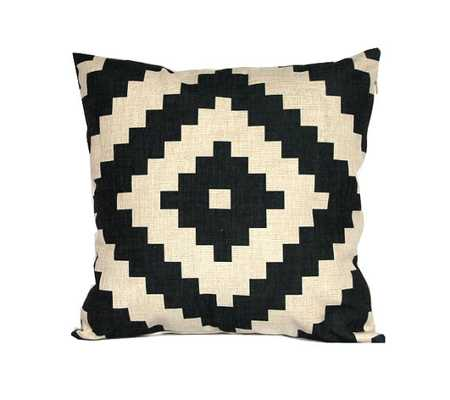 Aztec throw pillow covers 22x22 Black and white - Insert Sold Separately - Etsy