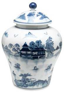 Lavieille Ginger Jar, Blue/White - One Kings Lane