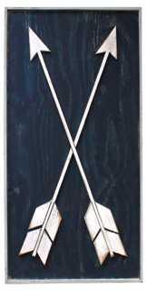 """36"""" Framed Arrows, White/Navy - One Kings Lane"""