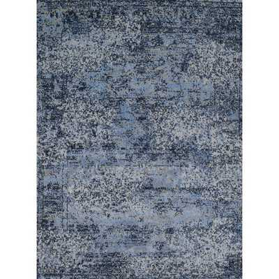 Hastings Light Blue/ Grey Rug (5'3 x 7'7) - Overstock