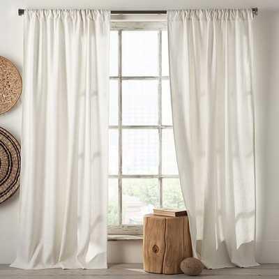 """Linen Cotton Curtain - Set of 2- 96""""l x 48"""" - West Elm"""