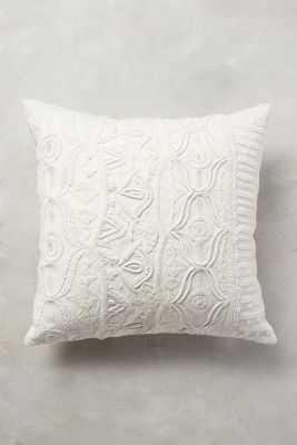 "Textured Ivory Pillow - 20"" - polyfill insert - Anthropologie"