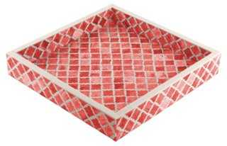 Moroccan Tile Tray, Coral - One Kings Lane