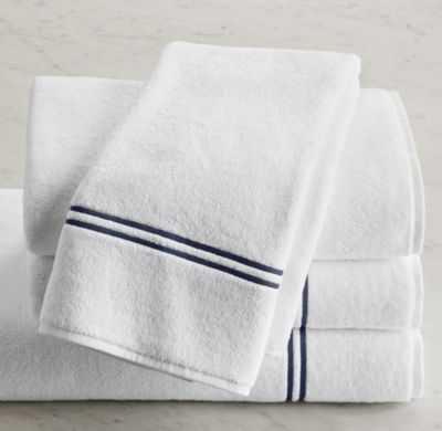 HOTEL SATIN STITCH TURKISH COTTON HAND TOWEL - RH