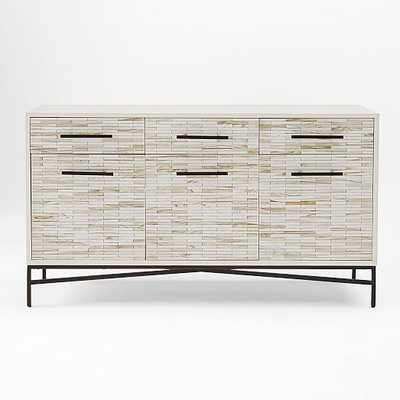 Wood Tiled Media Console - West Elm