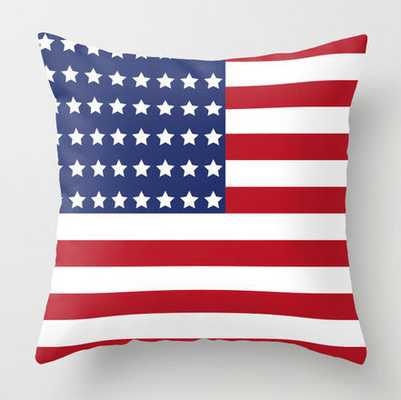 "American Flag Pillow, Stars and Strips, White, Red - 18"" x 18"" - Polyester Insert - Etsy"