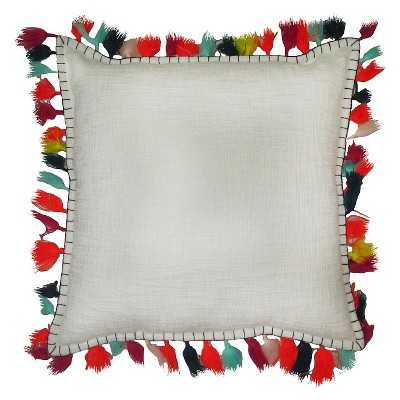 """Thresholdâ""""¢ Solid Pillow With Tassel 18""""X18"""" with polyester fill - Target"""