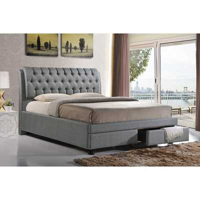 Baxton Studio Ainge Storage Panel Bed - Wayfair
