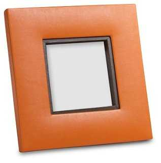 Equestrian Faux Leather Frame - One Kings Lane