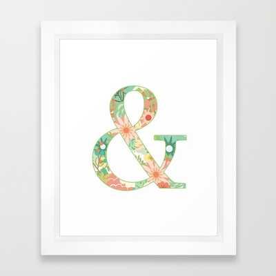"""Ampersand - 10"""" x 12"""" - Framed - Society6"""