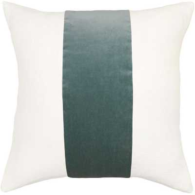 """Square Feathers Home Ming Pillow - Stone- 22""""x22""""-  Feather Down Insert - Candelabra"""