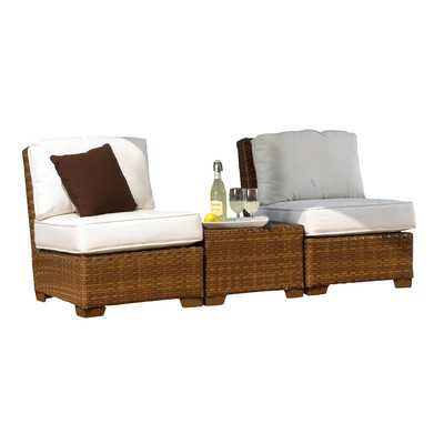 St. Barths 3 Piece Deep Seating Group with Cushions - Wayfair