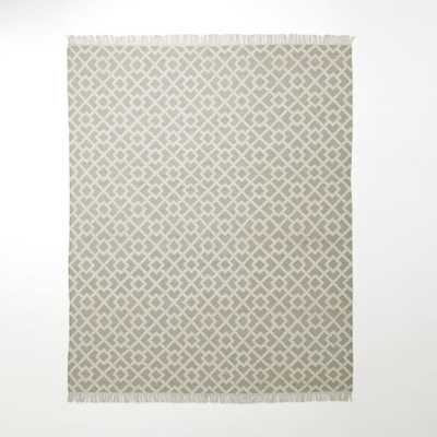 "Metallic Diamond Kilim - Flax-8""x10"" - West Elm"