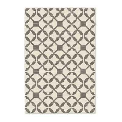 Tile Wool Kilim Rug - 6x9 - Platinum - West Elm