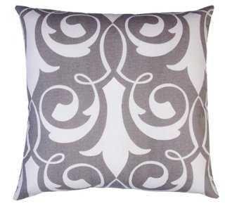 Xenos 20x20 Cotton Pillow, Gray - feather/down insert - One Kings Lane