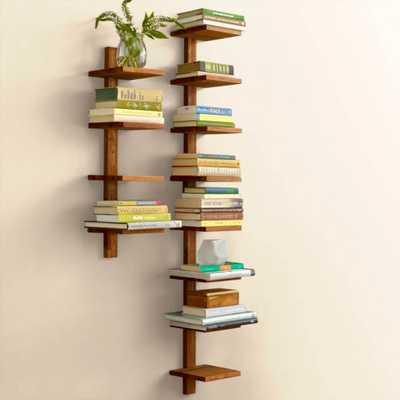 Golden Teak Column Shelf - Small - vivaterra.com