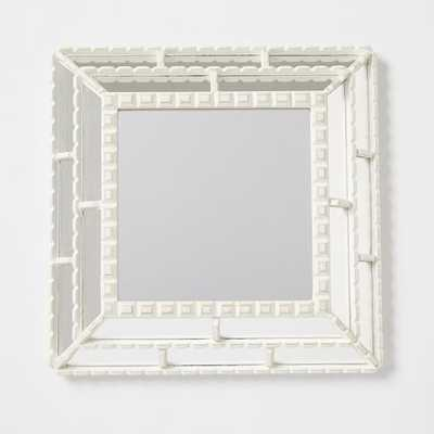 Peruvian Artisan Mirrors - White Square - West Elm
