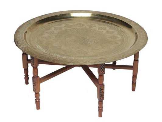 "Brass Moorish Table 24"" - Domino"
