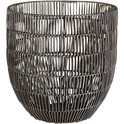 Heavy metal small basket - CB2