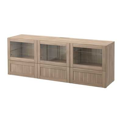 BESTÃ… TV bench with doors and drawers - Ikea