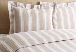 Stripe Duvet Set, Linen - One Kings Lane