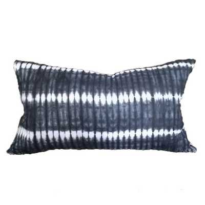 African shibori pillow hand dyed in Ghana navy blue and white - Etsy