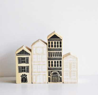 House Blocks - Handmade - Set of Four - Target