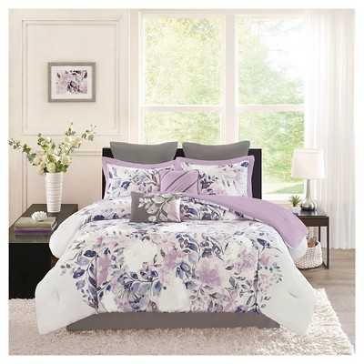 Lira 8 Piece Watercolor Floral Comforter King Set - Target